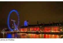 London Eye during the night. Picture by Diego Torres on Pixabay.