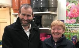 Pictured below was one of the lucky ra¸e winners for product vouchers, Rosaleen Hayden of Irishtown Garden Centre, Mountmellick.