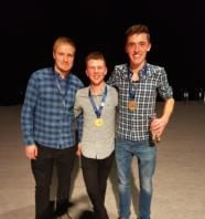 Reece McKay fdSc in Horticulture ( right) with his bronze medal for Landscape gardening won at WorldSkills UK LIVE held at the Birmingham NEC