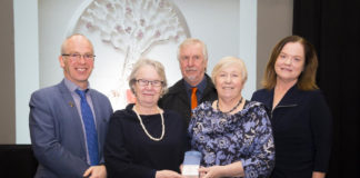 Pictured from left are Dr Peter McLoughlin, Head of the School of Science & Computing, WIT, Patricia Billett, Aidan McDermott, Eva Creely, and Dr Orla O'Donovan, head of the Department of Science WIT