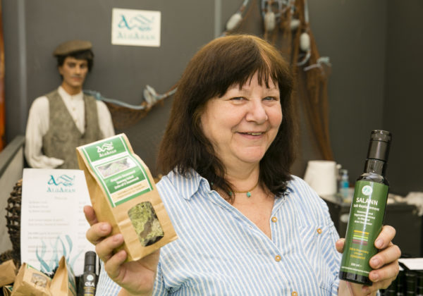 Rosaria Piseri, Algaran Seaweed, Glencolmcille, Co. Donegal at Bord Bia's Bloom Festival in the Phoenix Park Dublin. The annual showcase for the best of Irish horticulture and food runs for five days until Monday 3rd June 2019.