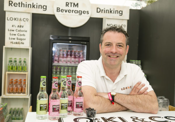 Stephen Dillon, NoKi & Co launched Ireland's first alcohol-free pre- mixed Gin & Tonic flavoured drink at Bord Bia's Bloom 2019
