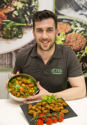 Ger Kirwan, Rudds Fine Foods who launched a new Chorizo White Pudding using traditional flavours with Spanish Chorizo chunks at Bord Bia's Bloom 2019