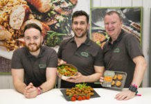 Leigh Carr, Ger Kirwan and Paul Keating, Rudds Fine Foods who launched a new Chorizo White Pudding using traditional flavours with Spanish Chorizo chunks at Bord Bia's Bloom 2019