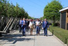 The Dutch royal couple visit Tree Centre Opheusden