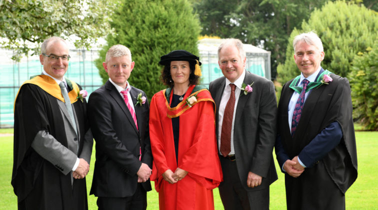Special guests welcomed Mr. Stephen Thompson (Managing Director, Out There), Professor Aine McKillop (Associate Dean, Education Ulster University) and Mr. Robert Huey (Chief Veterinary Officer, DAERA) were welcomed to the Greenmount Horticulture Awards Ceremony by Mr. Martin McKendry (Director, CAFRE) and Mr. Paul Mooney (Head of Horticulture, CAFRE).