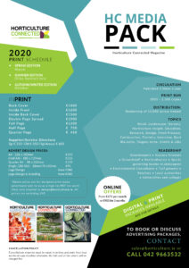 Horticulture Connected Rate Card 2020