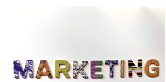 marketing written in letters.