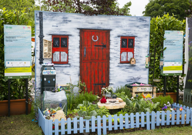 29/05/2019 Bord Bia Bloom Festival 2019 Postcard Garden 'Fork to Fork' by Longford Town Guild, Irish Countrywomans Association at Bord Bia's Bloom Festival in the Phoenix Park Dublin. The annual showcase for the best of Irish horticulture and food runs for five days until Monday 3rd June 2019. Photo: Johnny Bambury/Fennells