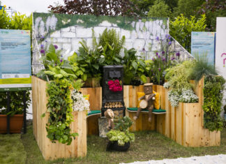 Bord Bia Bloom Festival 2019; Postcard Garden 'Sphere' by GRETB/Castlerea Men's Shed at Bord Bia's Bloom Festival in the Phoenix Park Dublin. Photo: Johnny Bambury/Fennells